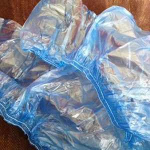 Бахилы п/эт текстура (пара) 35 г/м2 в индивидуальная упаковка с 2-х рядной резинкой