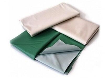 Клеенка подкладная резинотканевая зеленая и белая